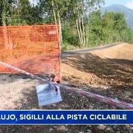 Valle Seriana. Sigilli al cantiere della pista ciclabile del Lujo