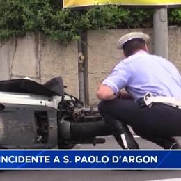 Incidente a S.Paolo d'Argon, motociclista 42enne in gravi condizioni