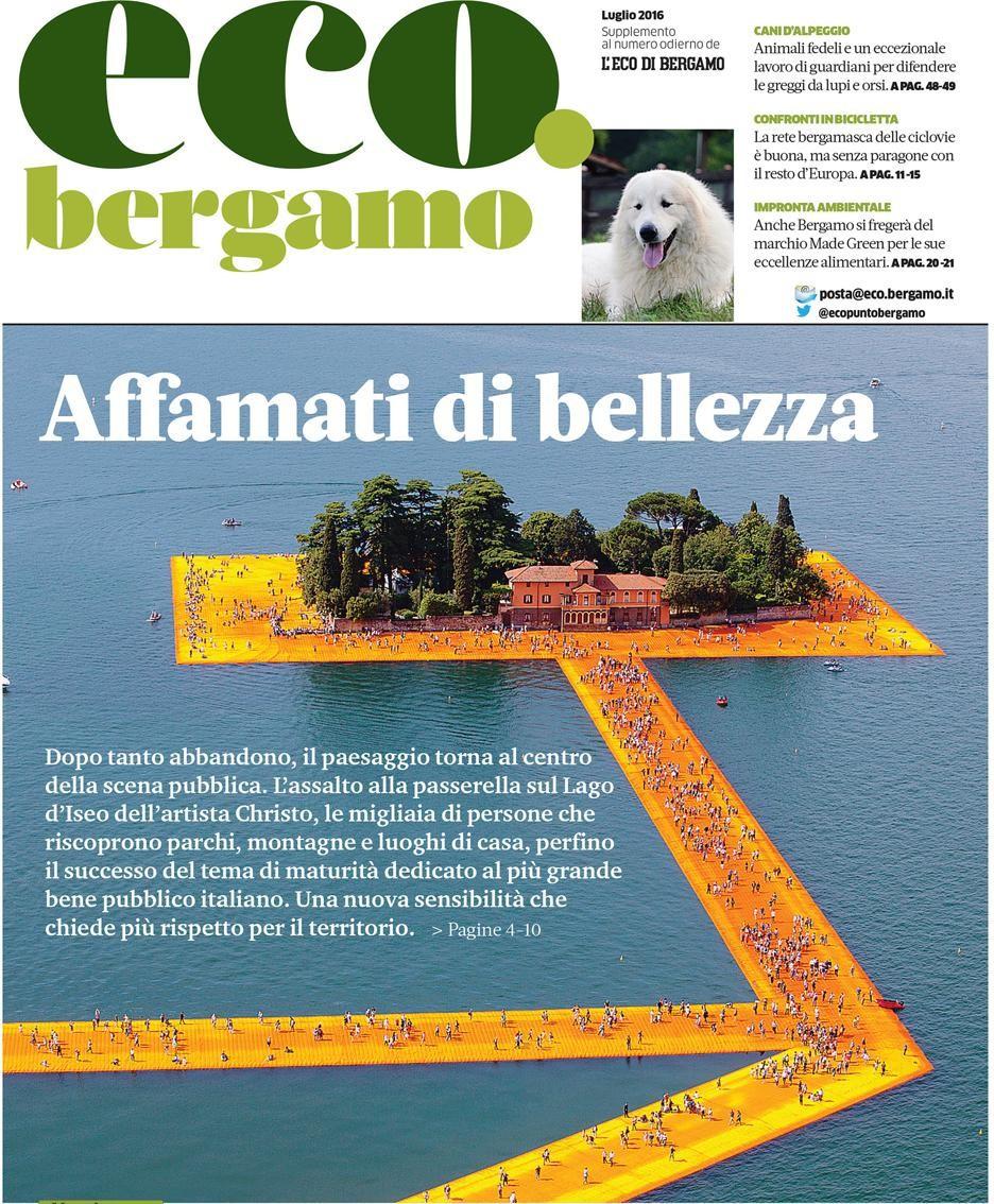 La copertina del numero di luglio di eco.bergamo