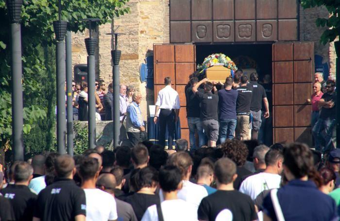 I funerali di Fabio Noris e Roberto Rota