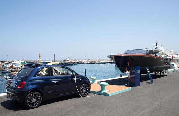 La Fiat 500 Riva a Capri