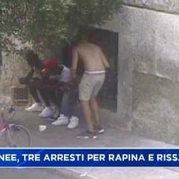 Bergamo stazione autolinee, rapina e rissa con bottiglie arrestati tre marocchini