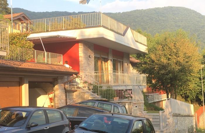 L'abitazione dei genitori di Taschini a Capizzone