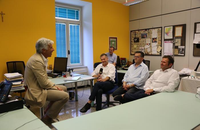 Gasperini con Roberto Belingheri, Pietro Serina e Matteo De Sanctis