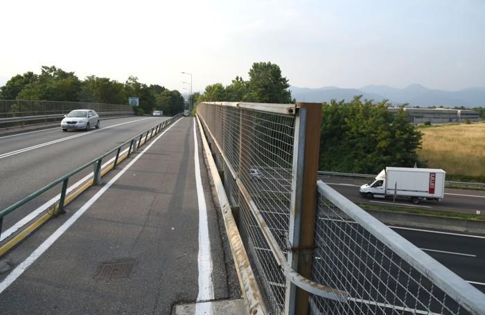 La pista ciclabile di via Zanica a Stezzano
