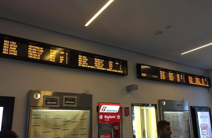 I ritardi alla stazione di Bergamo