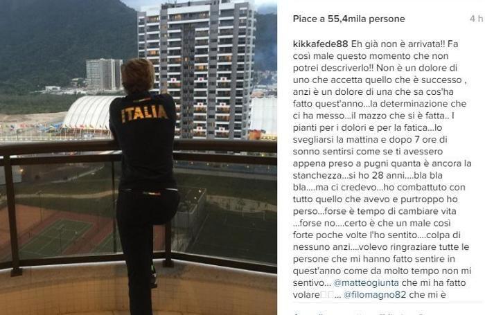 Il post di Federica Pellegrini