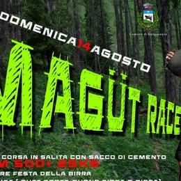Magüt Race, corsa 100% bergamasca  In salita con un sacco di cemento - Video