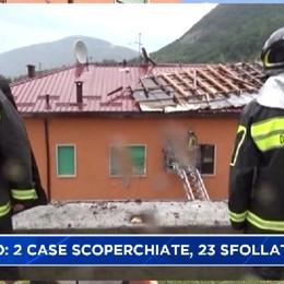 Maltempo a Nembro, due case scoperchiate. Evacuate nove famiglie, 23 sfollati