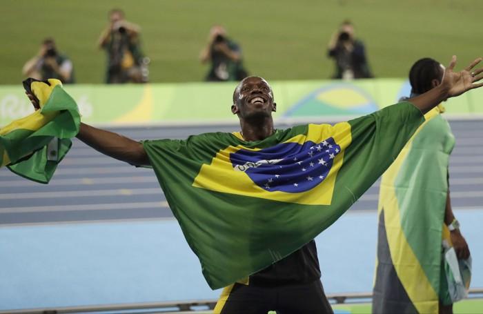 La gioia di Usain Bolt