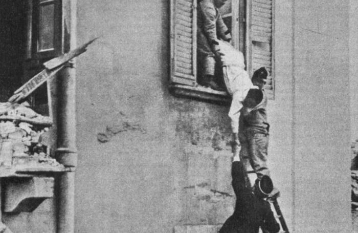 Una drammatica immagine del terremoto del 1908