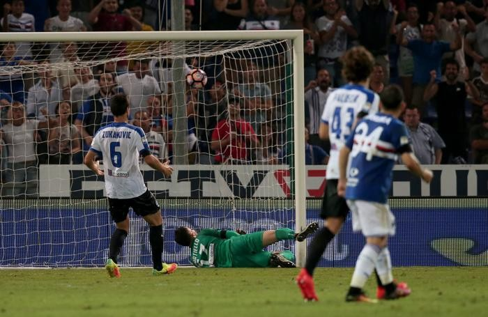 Il gol incassato da Sportiello sull'incornata di Barreto