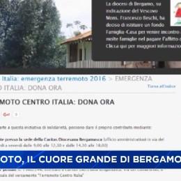 Terremoto, il cuore grande di Bergamo