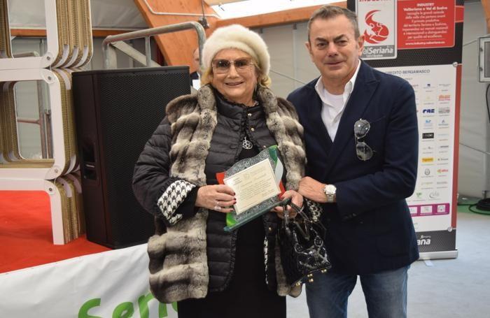 Luciana Previtali Radici con il figlio Angelo