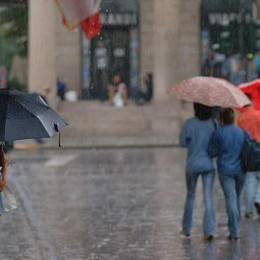 La Regione lancia l'allarme «Martedì temporali forti»