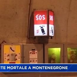 21enne muore in un incidente nella galleria di Montenegrone