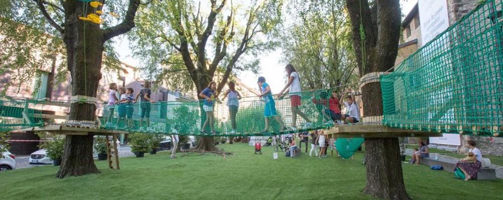 Città Alta, riapre il Parco Avventura «La struttura ora è sicura» - Foto