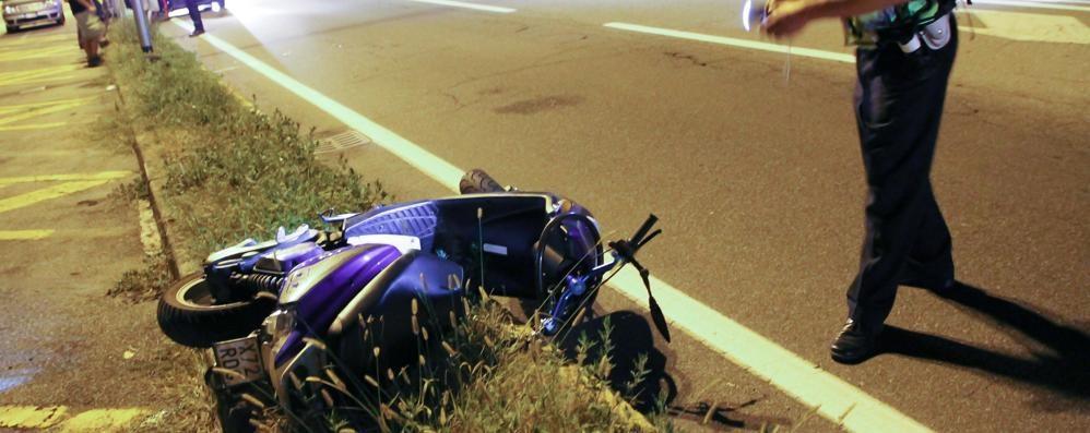 Seriate: è  morto il motociclista 16enne vittima sabato di un  incidente - Video