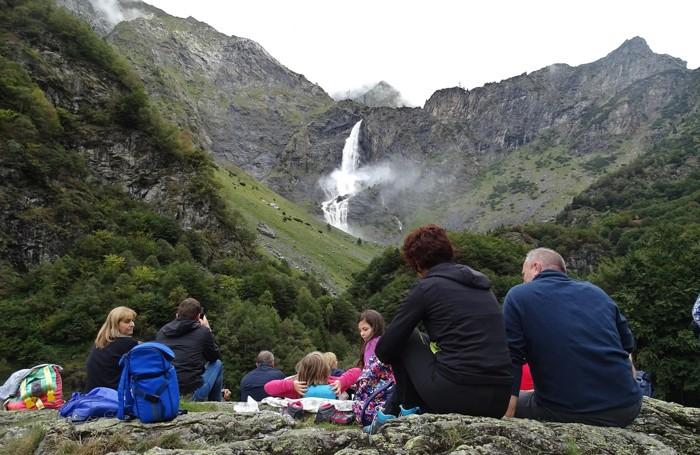 Lo spettacolo delle cascate del Serio
