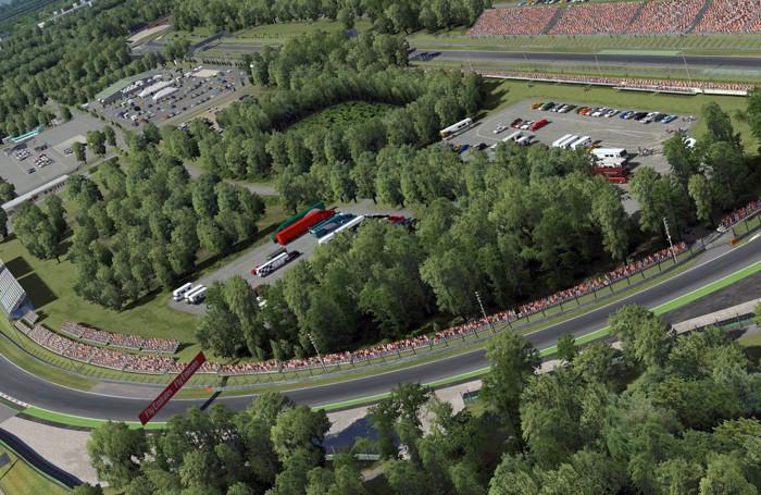 Uno scorcio del circuito di Monza