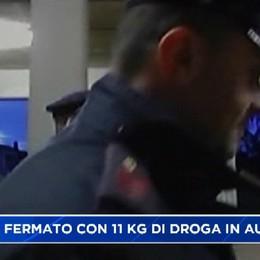 Bergamasco 64enne corriere della droga, trasportava 11 kg di cocaina