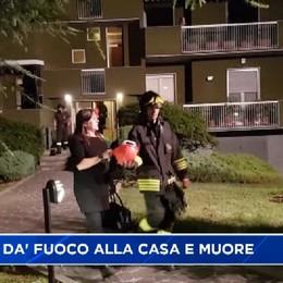 Curno - 72enne dà fuoco alla sua casa e muore