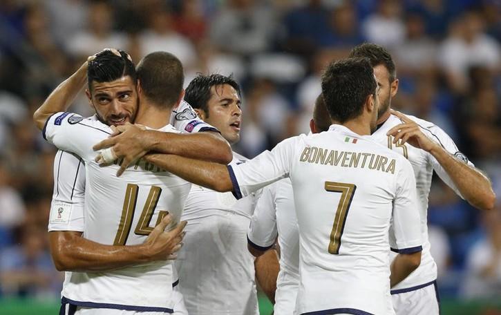 Mondiali 2018: l'Italia soffre ma vince 3-1  in  Israele con Chiellini espulso