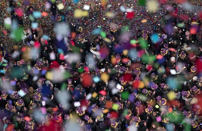 Times Square festeggia il nuovo anno