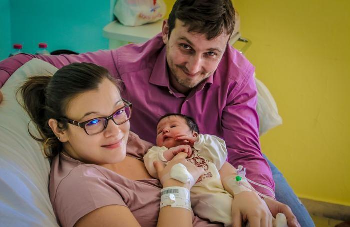 Giulia Rigamonti con mamma e papà
