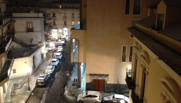 Maltempo: nevica su A2 in Calabria