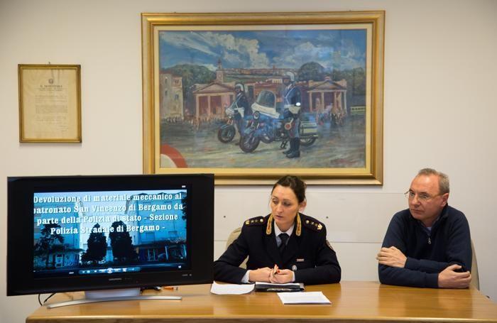 Mirella Pontiggia e don Mauro Palamini