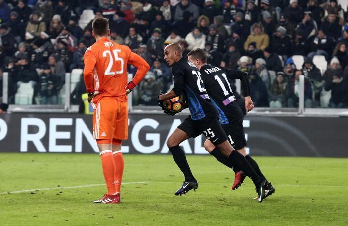 Konko dopo il goal alla Juventus