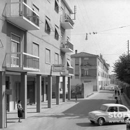 Boccaleone, via Gabriele Rosa Un pomeriggio negli anni Sessanta