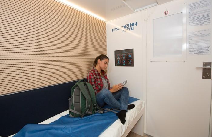 Mini stanze - Moduli riposo a all'aereoporto Caravaggio di Orio al Serio