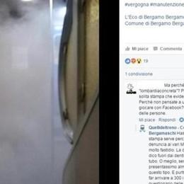 Guasto ai freni, fumo nei vagoni I pendolari (per non piangere) ironizzano