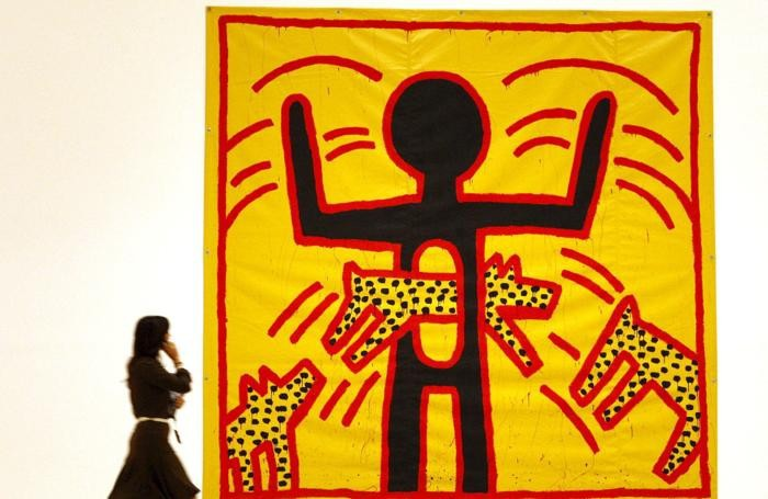 quadro di Keith Haring al Guggenheim museum a Bilbao EPA/ALFREDO ALDA /JI