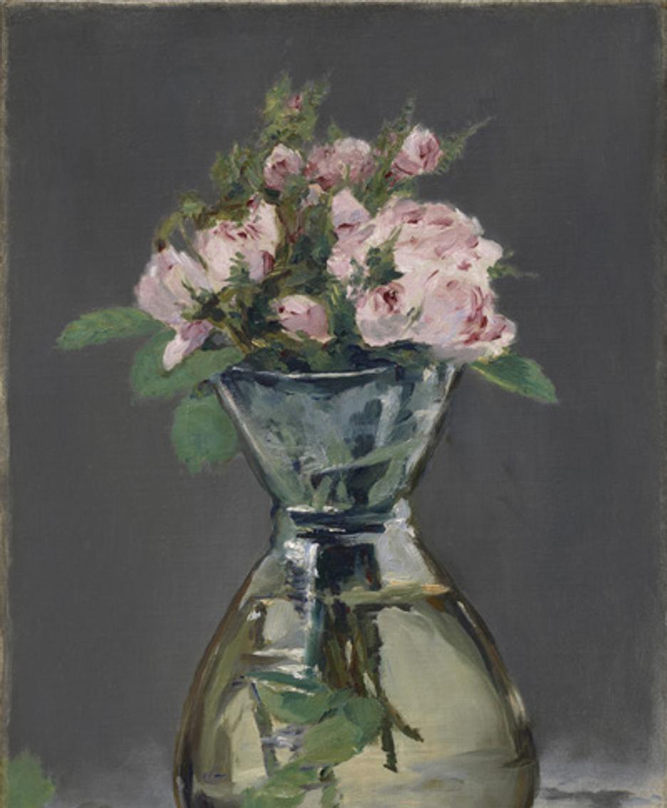 VASO DI ROSE Dipinto di Edouard Manet (1882)