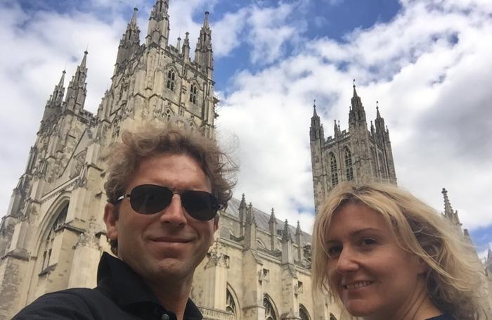 Mauro con la moglie Silvia Dell'Agnese