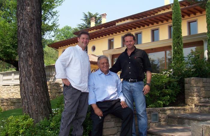 Vittorio Cerea con i figli Enrico e Francesco