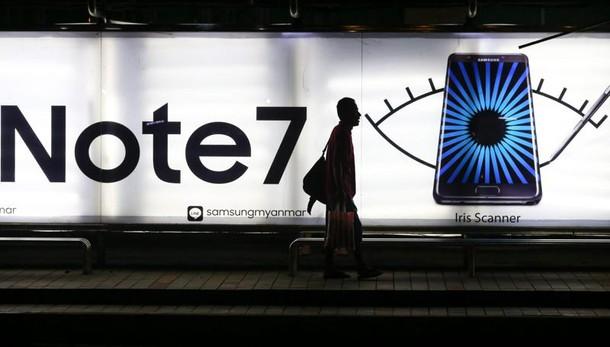 Samsung: batterie causa incendi Note 7