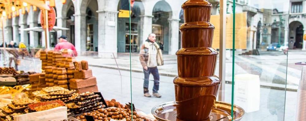 Sul Sentierone  festa del cioccolato Propilei-via Petrarca, domenica si chiude