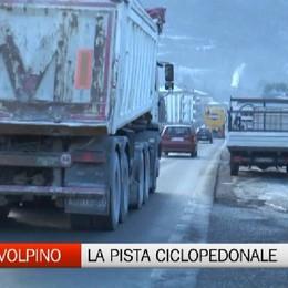 Costa Volpino, pista ciclopedonale verso Pisogne