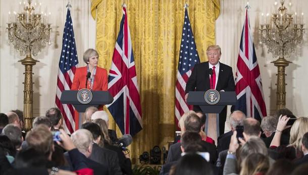 Trump a May, relazioni mai così forti