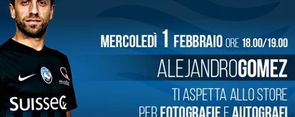 Il Papu incontra i suoi tifosi a Bergamo Mercoledì sarà pienone all'Atalanta Store