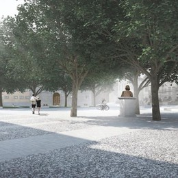 La nuova piazza Carrara, ecco come sarà Il progetto si presenta alla città – Foto