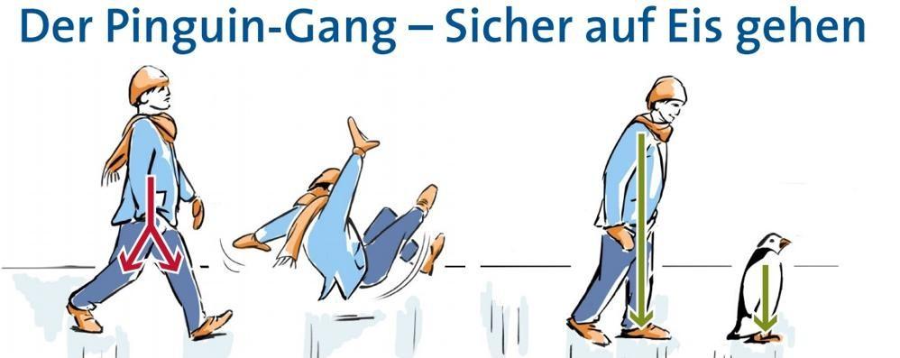 Gelo in arrivo, traumatologi tedeschi «Per non scivolare fate come i pinguini»