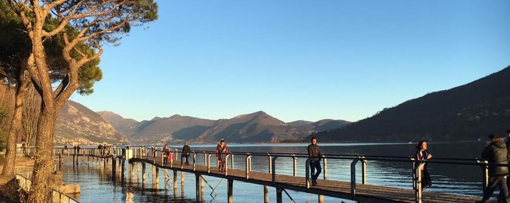 Lago d'Iseo ai minimi storici Ancora allarme siccità sul Sebino