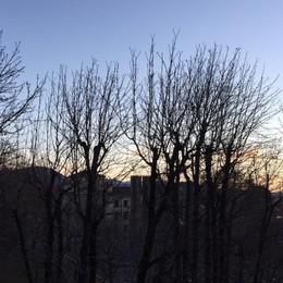 Ancora vento forte e gran gelo Niente neve, attenzione agli incendi