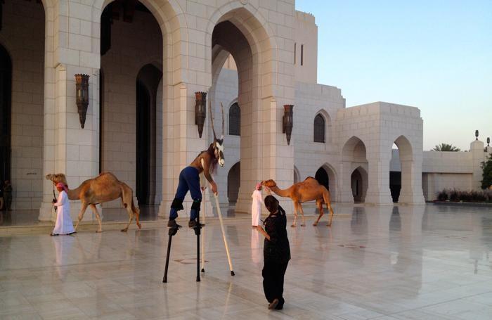 Le prove dello spettacolo del Tascabile in Oman