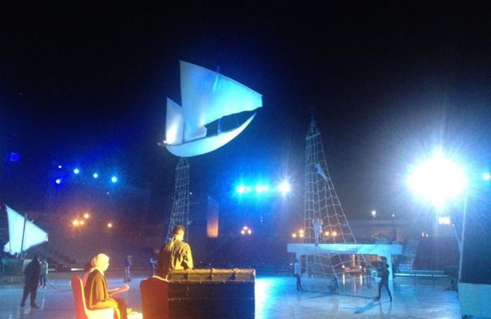 Le prove dello spettacolo «Celebrating Oman: the Great Journey»